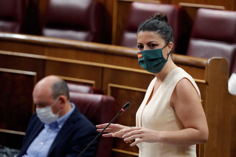 Macarena Olona, en una sesión en el Parlamento