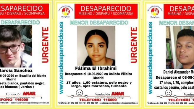 Buscan desde hace días a tres adolescentes desaparecidos en Madrid