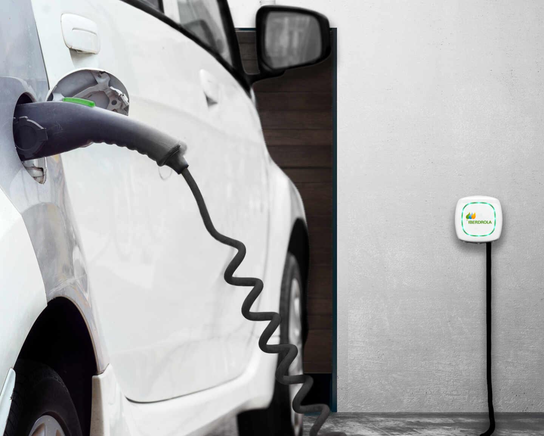 Punto de recarga de vehículos eléctricos.