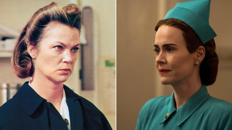 Alguien voló sobre el nido del cuco, y Sarah Paulson, en la serie de Netflix.