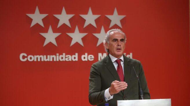 El consejero de Sanidad de la Comunidad de Madrid, Enrique Ruiz Escudero.