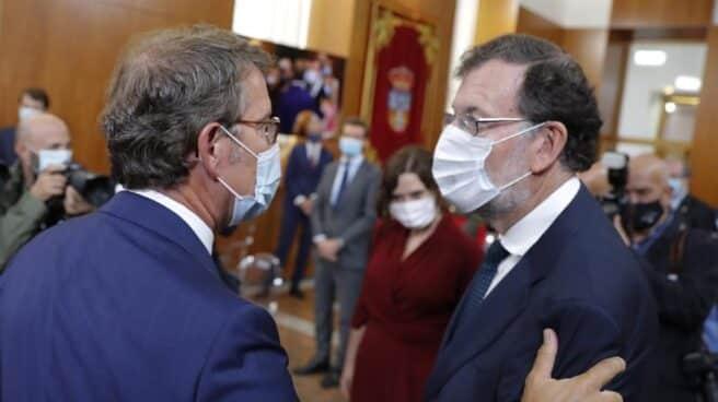 Alberto Núñez Feijóo y Mariano Rajoy, durante la toma de posesión del presidente gallego.
