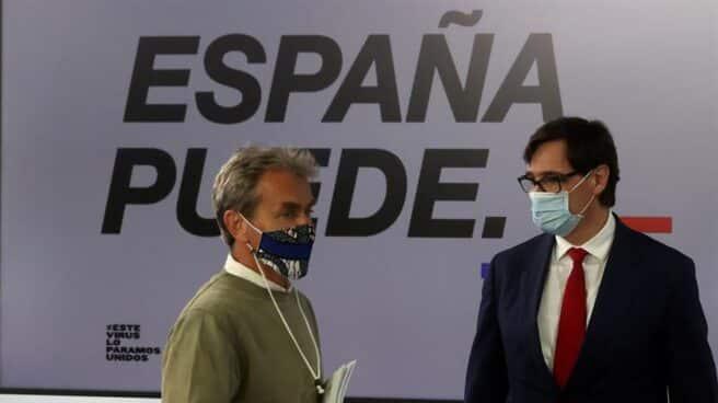 Fernando Simón y Salvador Illa, en Moncloa.