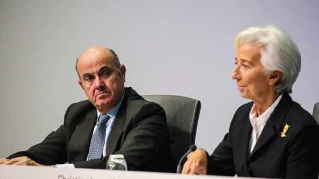 El vicepresidente y la presidenta del BCE, Luis de Guindos y Christine Lagarde.