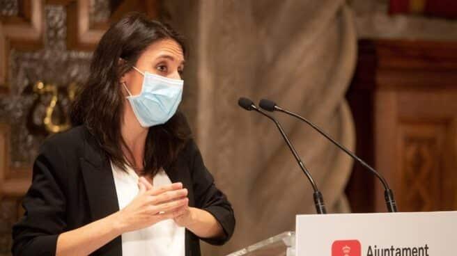 Irene Montero, durante un acto en Barcelona.