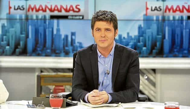 Jesús Cintora, durante su época como presentador de 'Las mañanas de Cuatro'.