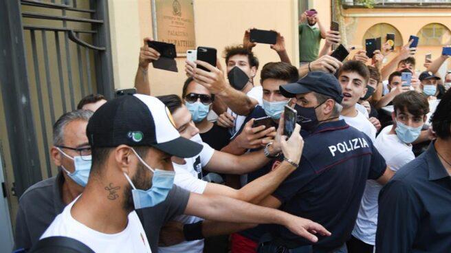 Luis Suárez, en Perugia para su examen de italiano.