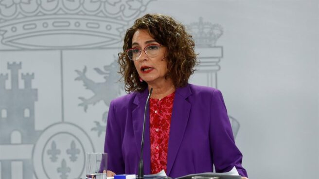 La portavoz del Gobierno, María Jesús Montero, en rueda de prensa posterior al Consejo de Ministros.