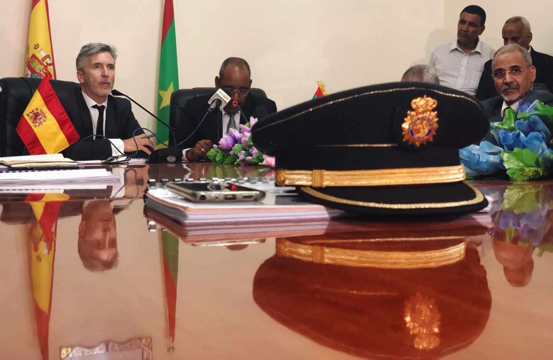 Grande-Marlaska, con las autoridades de Mauritania en un viaje realizado en julio de 2018.