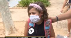 """La lección viral de una niña sobre las mascarillas: """"No pasa nada, mejor eso que morirse"""""""