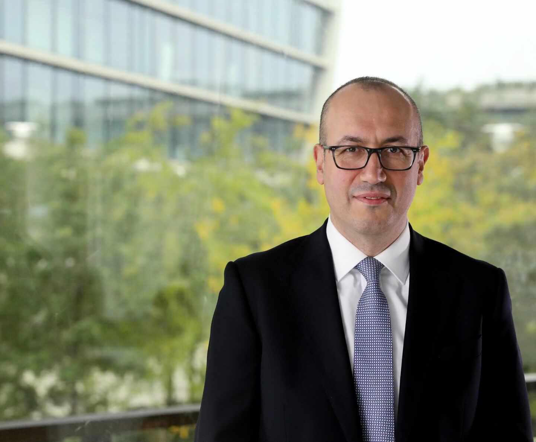 El consejero delegado de BBVA, Onur Genç, en la sede del banco en Madrid.