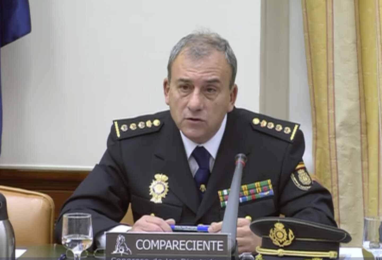 Rafael Pérez Pérez, durante su comparecencia ante la Comisión Mixta de Seguridad Nacional