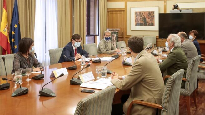 Reunión entre el ministerio y la consejería de Sanidad de la Comunidad de Madrid.