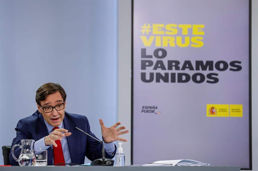 Salvador Illa, en rueda de prensa posterior al Consejo de Ministros.