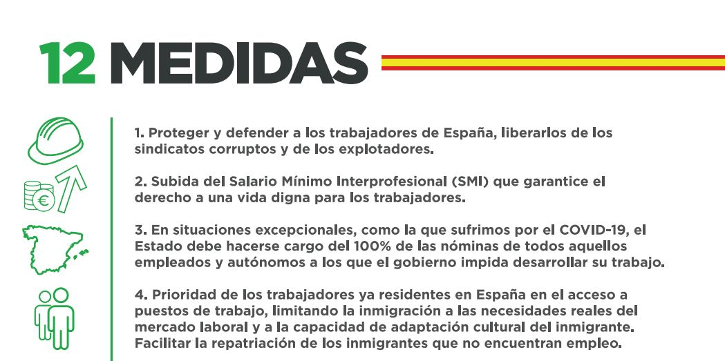 Principales medidas de Solidaridad, el sindicato impulsado por Vox.