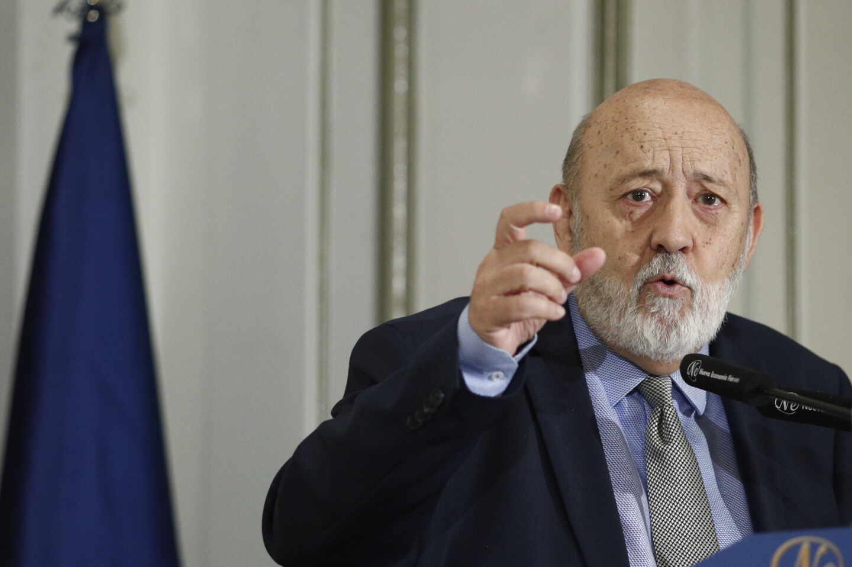 El presidente del CIS, José Félix Tezanos, en un desayuno informativo.