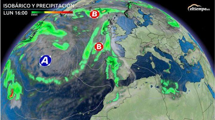 Cambio de tiempo: caída de los termómetros y lluvias