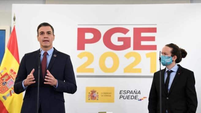 Sánchez e Iglesias presentan los Presupuestos.