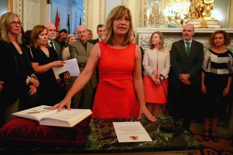 La presidenta de Patrimonio Nacional, María de los Llanos Castellanos.