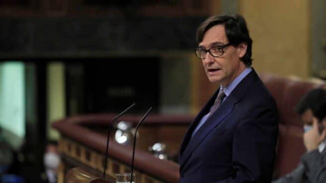 El ministro de Sanidad, Salvador Illa, comunica este jueves al pleno del Congreso la declaración del estado de alarma en Madrid.