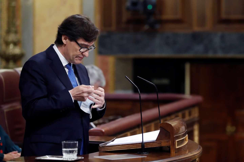 Salvador Illa, ministro de Sanidad, en el Congreso.