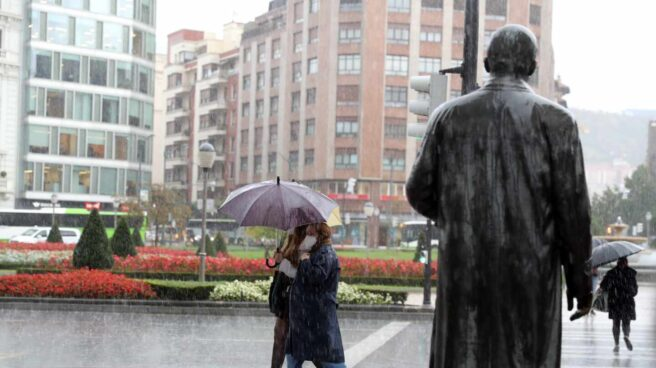 Diluvio en Bilbao.