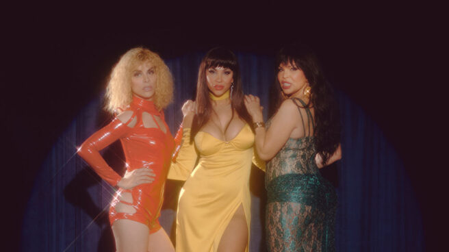 Jedet, Daniela Santiago e Isabel Torres, ganadoras del Premio Ondas por interpretar a Cristina Ortiz, 'la Veneno'.