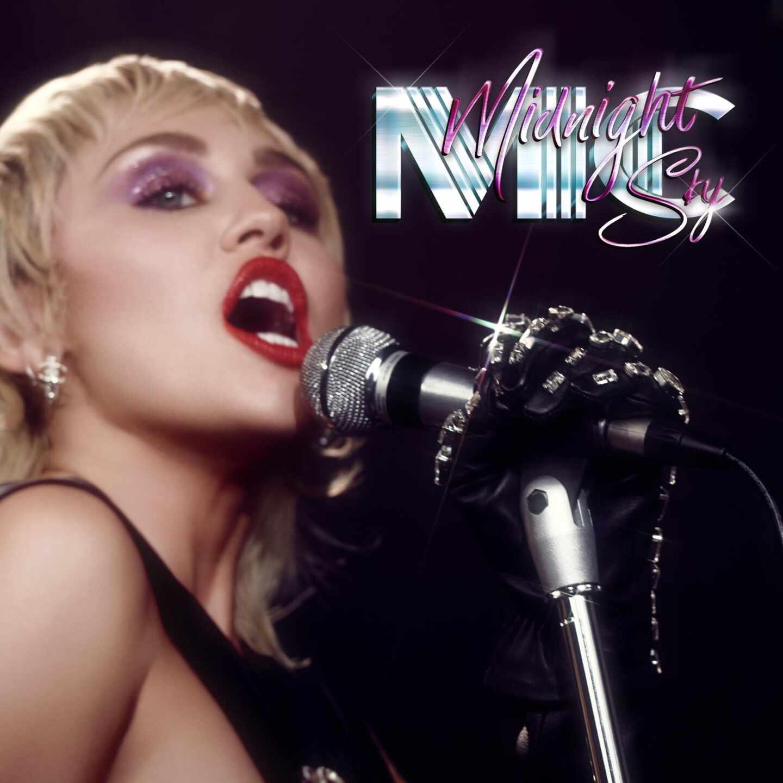 Diseño de ¡'Midnight Sky', el adelanto del próximo disco de Miley Cyrus con claros tintes discotequeros.