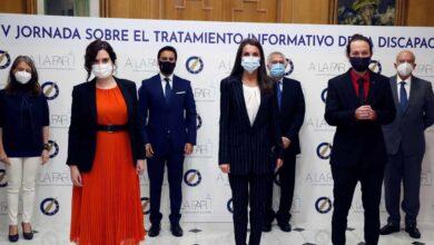 Iglesias vuelve a acompañar a la reina Letizia en un acto oficial