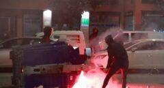 Lanzamiento de objetos contra la Policía en el barrio de Gamonal (Burgos)