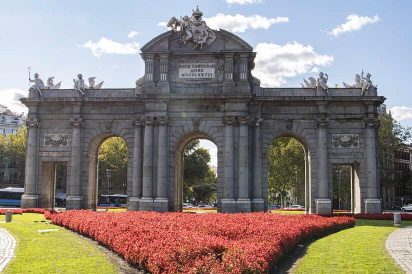 La Puerta de Alcalá, uno de los lugares más emblemáticos de Madrid