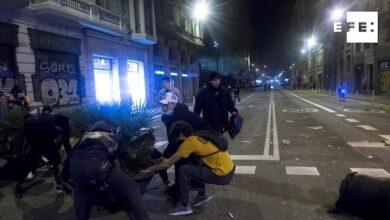 Violentos disturbios en Barcelona, saqueo de Decathlon incluido
