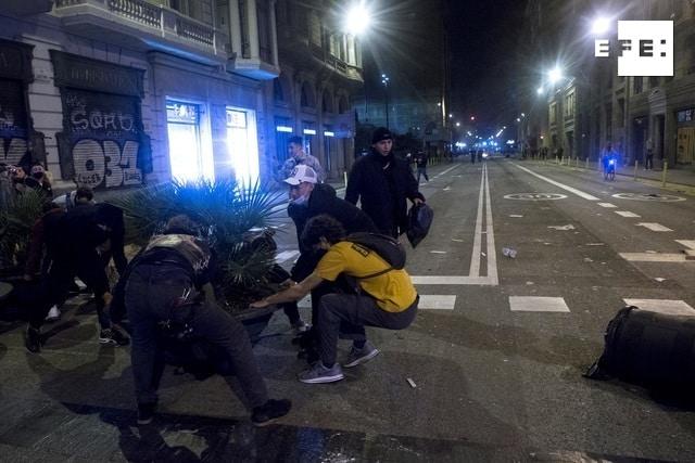 Incidentes en Barcelona.