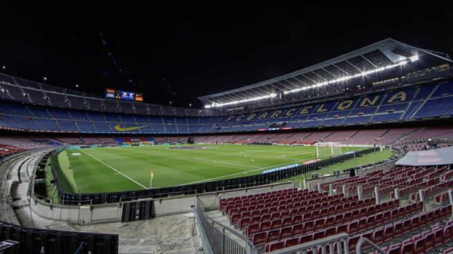 Imagen del Camp Nou vacío antes del Barcelona-Sevilla del 4 de octubre