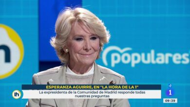 """Esperanza Aguirre dice que Sánchez quiere """"derrocar"""" el Gobierno de Madrid y que Ayuso """"es una crack"""""""