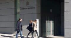 Pablo Iglesias, llegando a la Audiencia Nacional el 27 de marzo de 2019 para declarar ante el juez del 'caso Dina'.