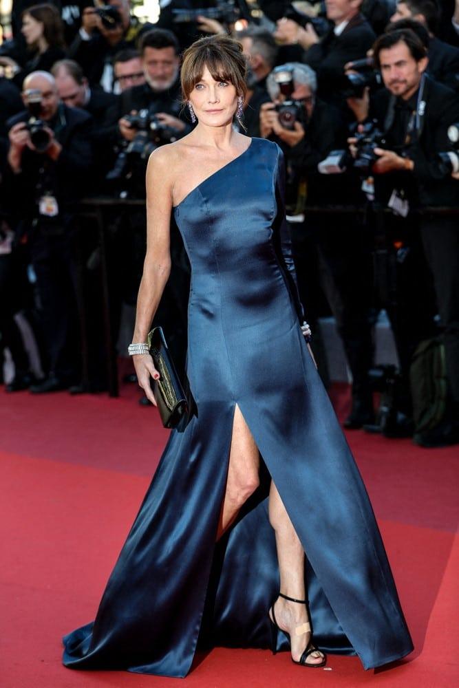 Carla Bruni en el Festival de Cannes de 2019.