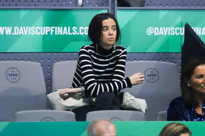 Victoria Federica en la Copa Davis.