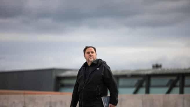 Oriol Junqueras saliendo de la prisión de Lledaners.