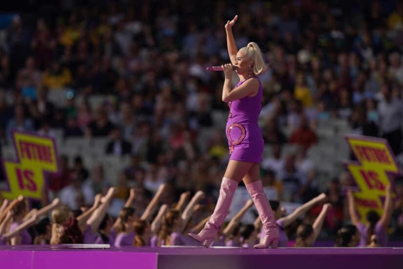 Katy Perry en la final del Mundial de Cricket en Melbourne