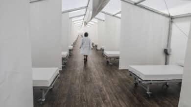 El Hospital La Fe registra récord de ingresos por Covid-19 y recurre al antiguo Campanar