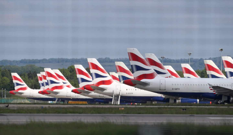 Aviones de British Airways.