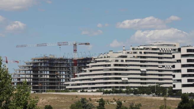 Vivienda en construcción en Madrid.