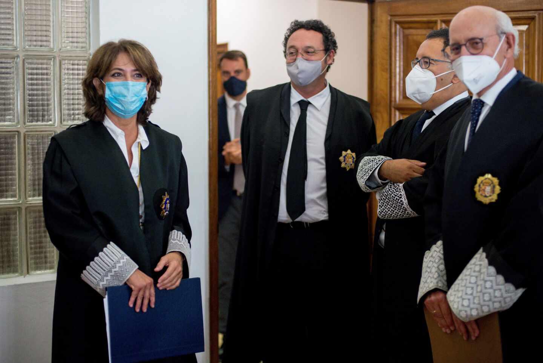 La fiscal general del Estado, Dolores Delgado, en la toma de posesión de la fiscal jefe de Orense.