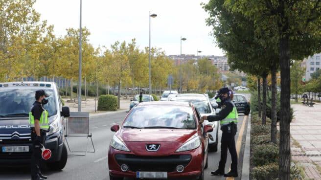 Control policial en Madrid.