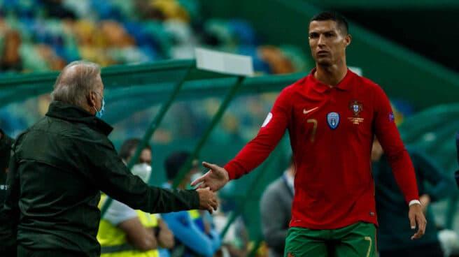 Ronaldo con la Selección Portuguesa.