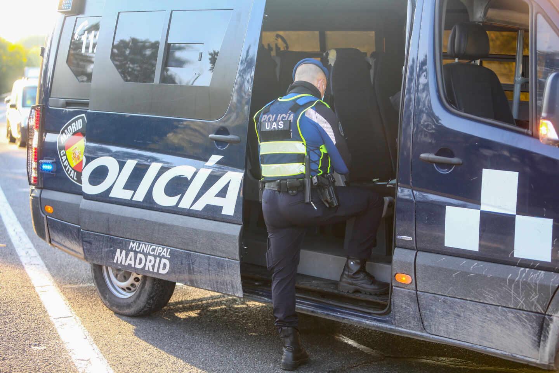 Control de la Policía Municipal de Madrid.