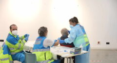 Test de antígenos en un centro de Madrid.