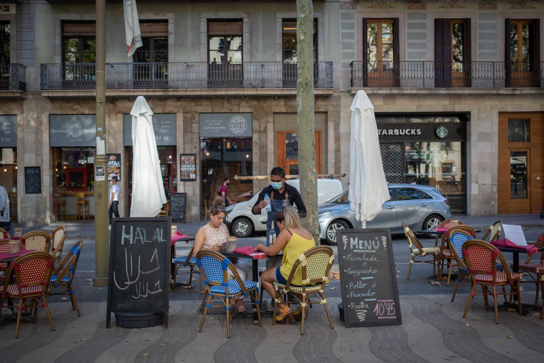 Terraza de Barcelona.