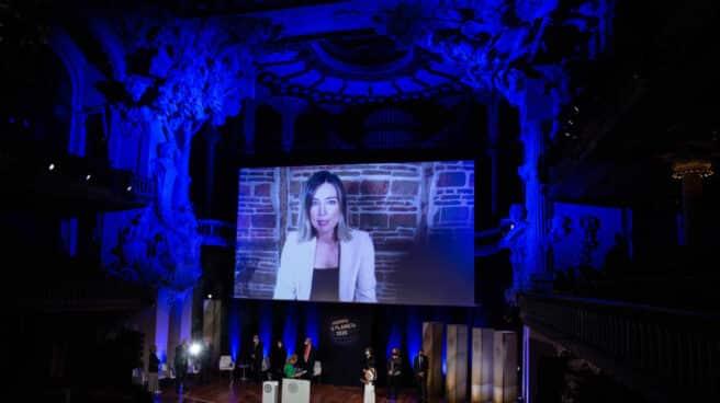 Sandra Barneda en los Premios Planeta.